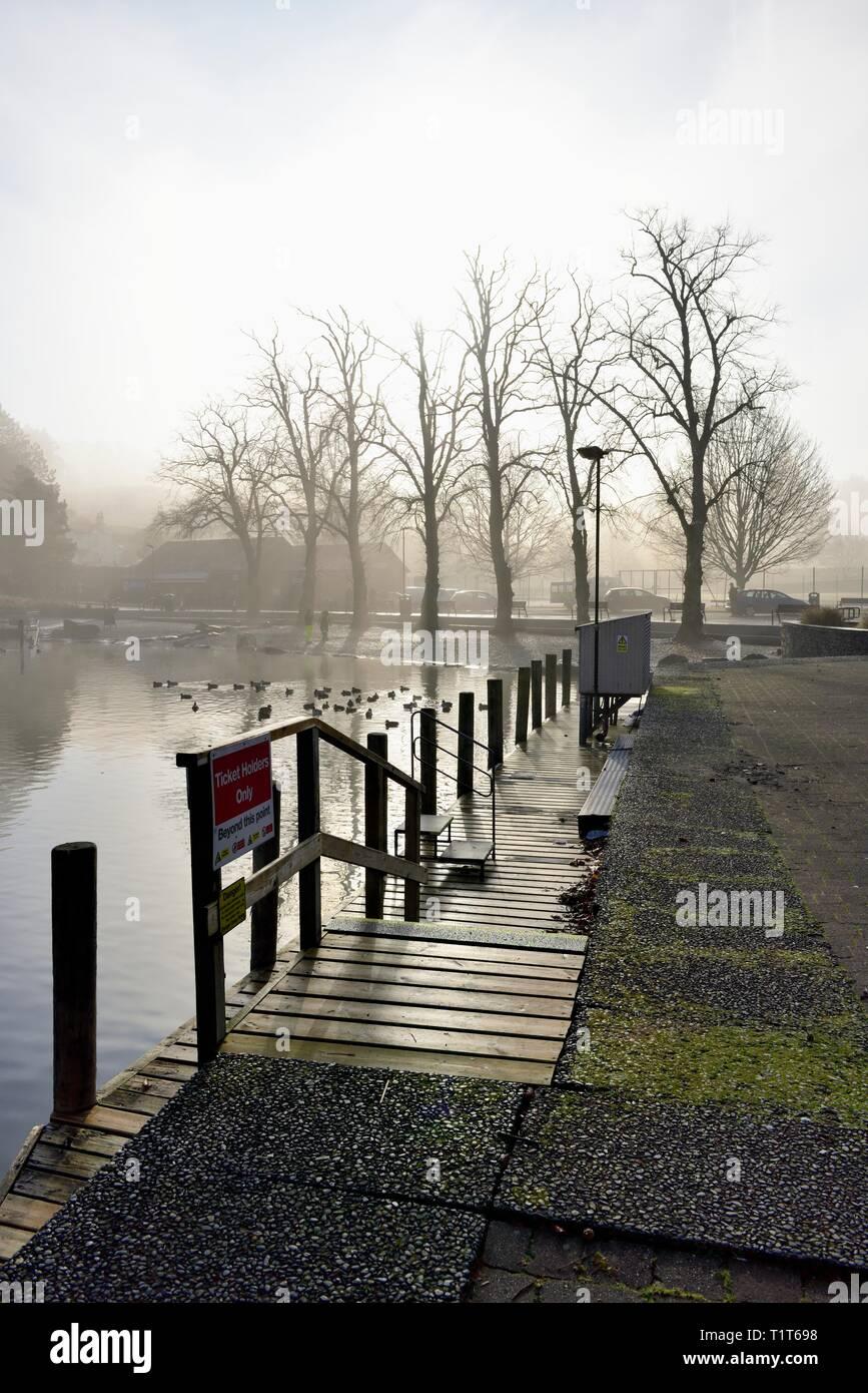 Bowness on Windermere,Promenade,Lake District,Cumbria,England,UK Stock Photo