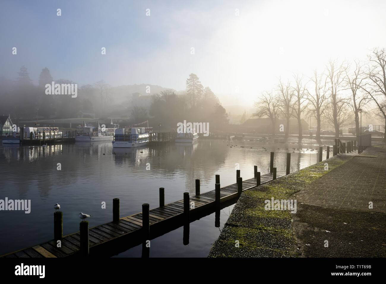 Bowness on Windermere,Promenade,Lake District,Cumbria,England,UK Stock Photo