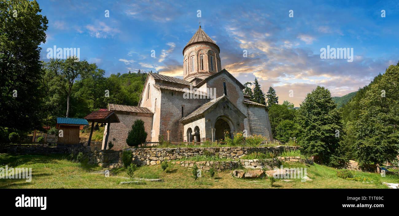 Picture of Timotesubani medieval Orthodox monastery Church of the Holy Dormition (Assumption), Samtskhe-Javakheti region, Georgia - Stock Image