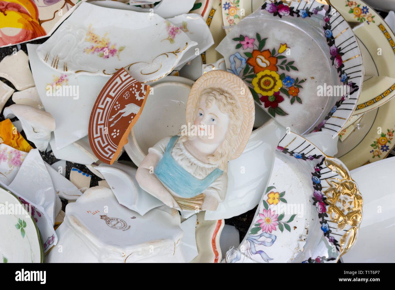Wreckage of housewares after a Severe storm Stock Photo