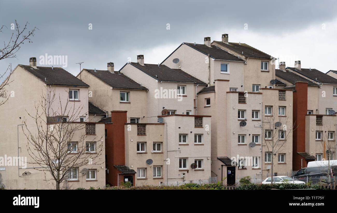 Social housing estate at Wester Hailes in Edinburgh, Scotland, UK - Stock Image