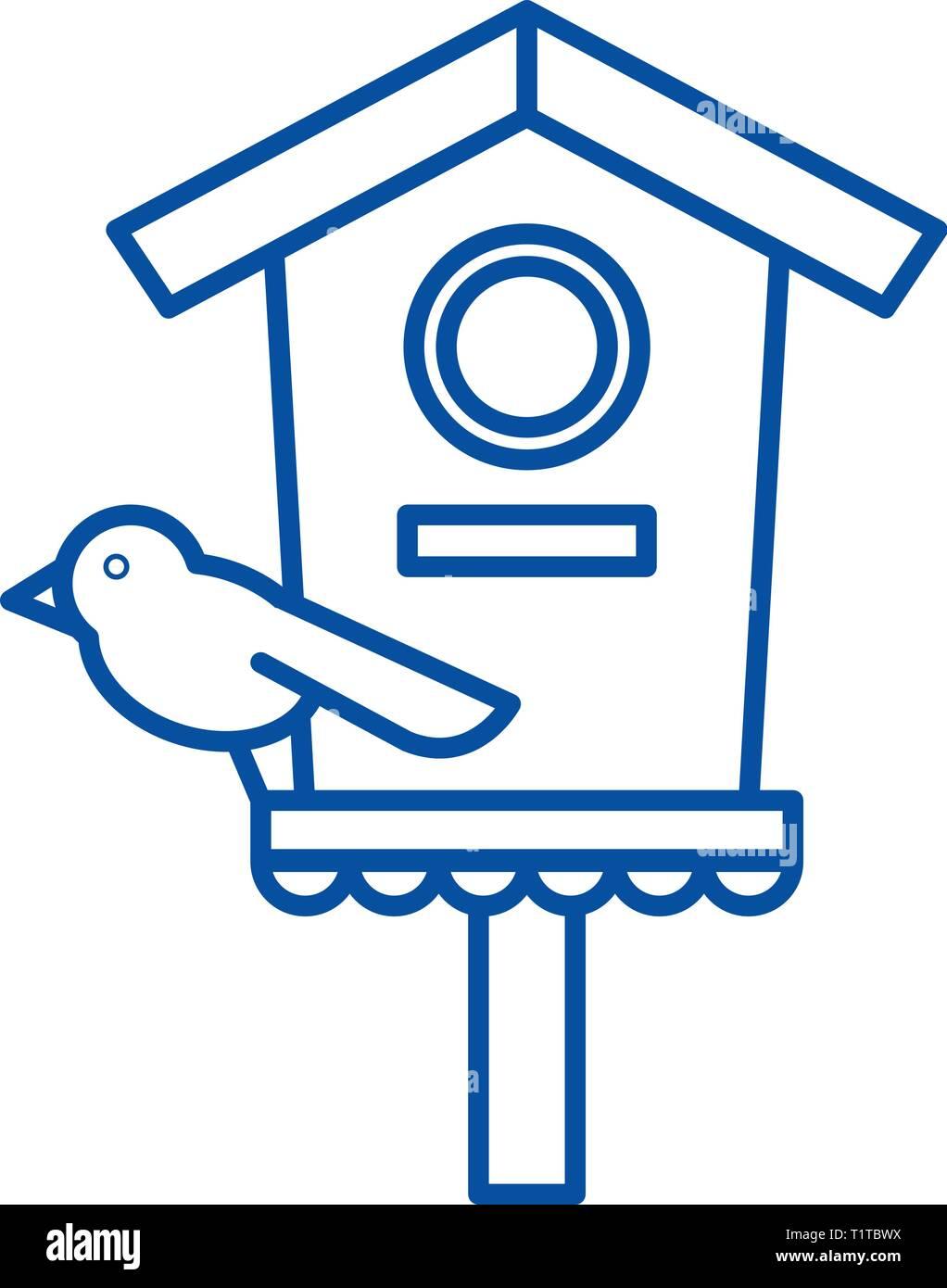 Screamer line icon concept. Screamer flat  vector symbol, sign, outline illustration. - Stock Vector