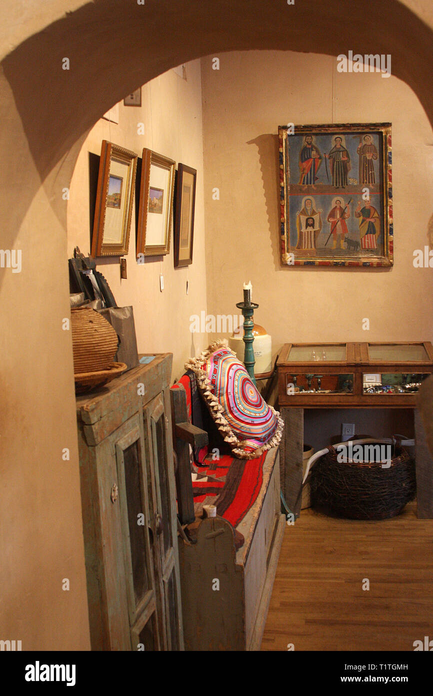 Interior of small shop in Santa Fe, New Mexico, USA Stock ...