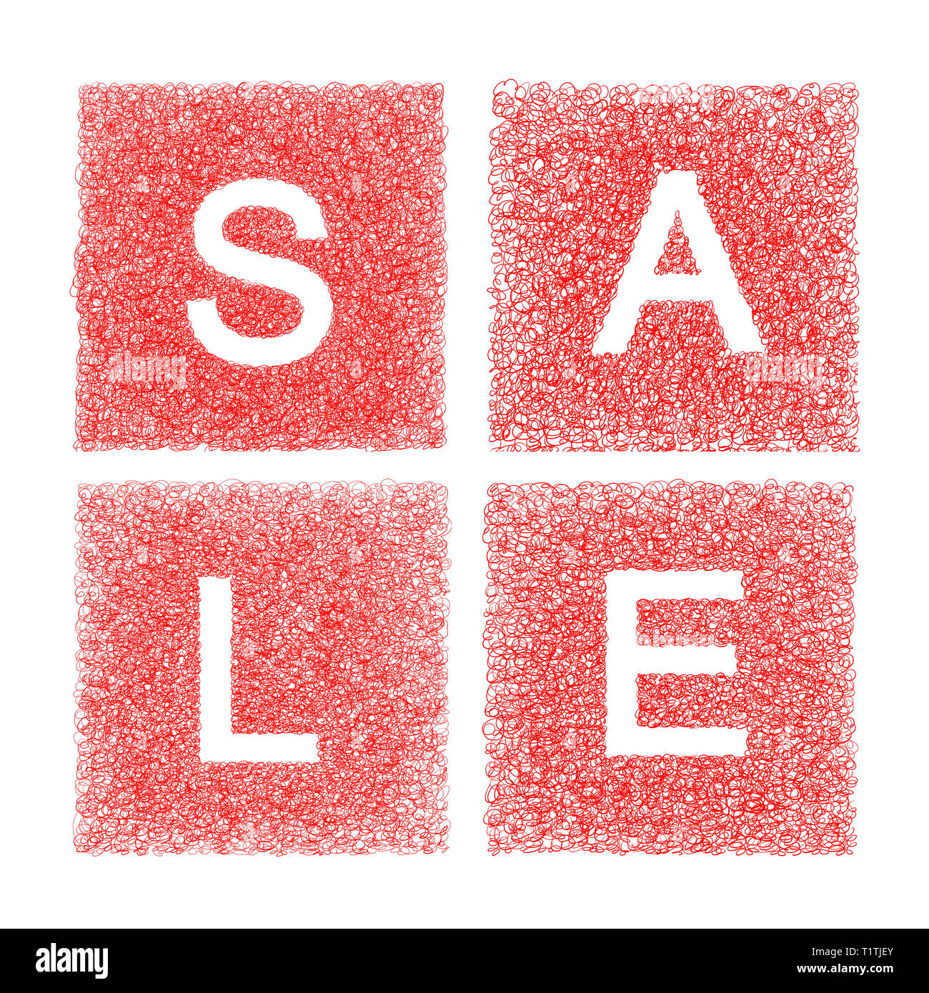 Sale written with handmade letters - concept image - Stock Image