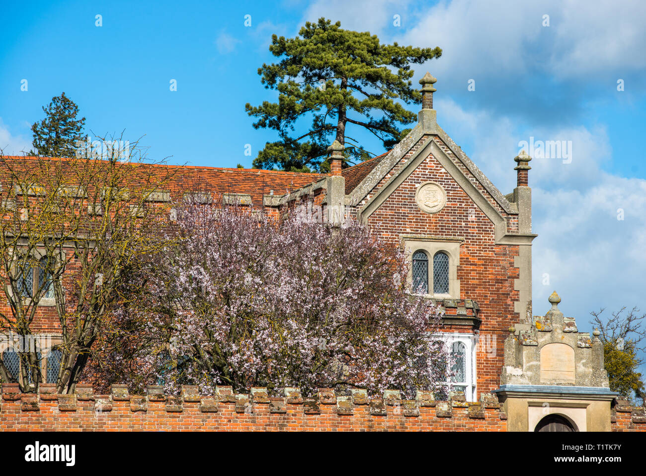 Hospital of the Holy and Blessed Trinity in the village of Long Melford, Suffolk, East Anglia, UK. - Stock Image