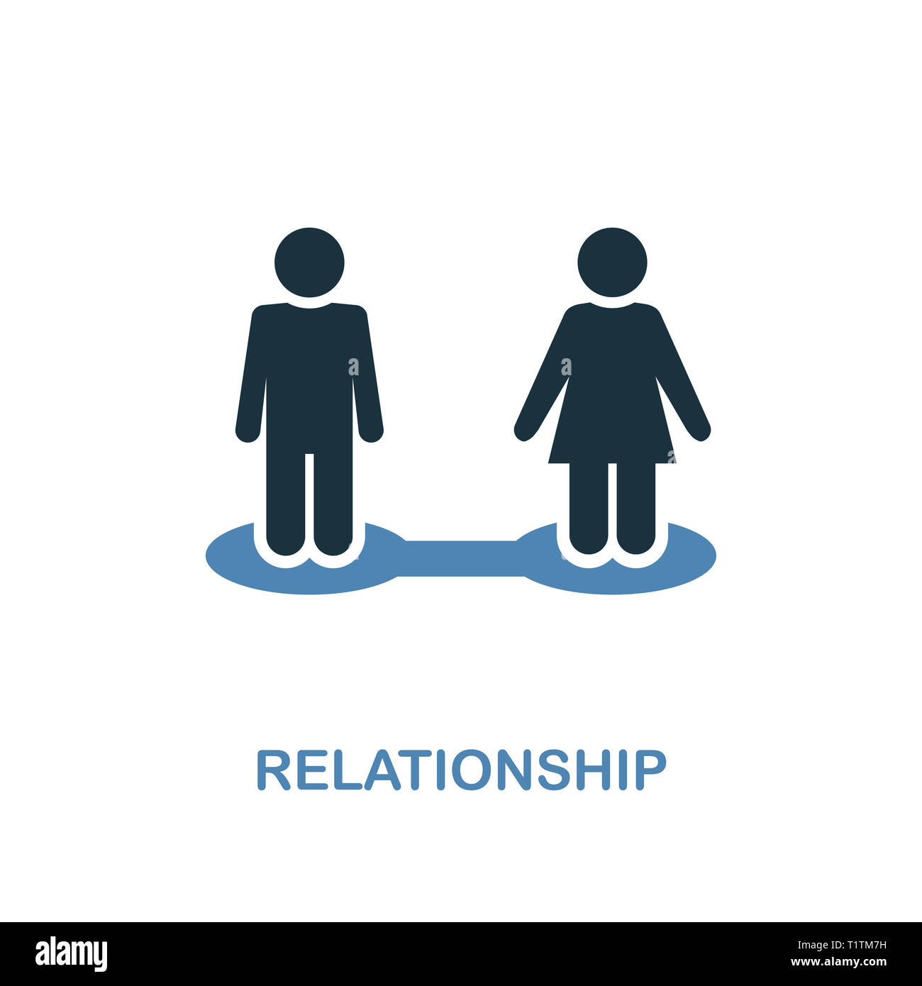Relationship creative icon. Simple illustration. Relationship icon from human resources collection. Two colors element for web, apps, software, print. - Stock Image