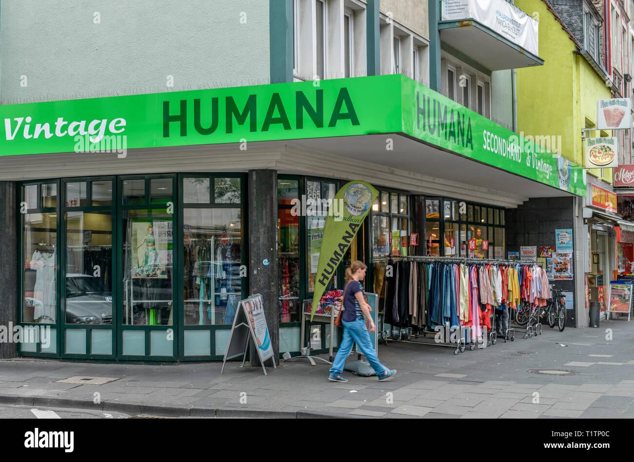 Humana Secondhand, Neusser Strasse, Nippes, Koeln, Nordrhein-Westfalen, Deutschland - Stock Image