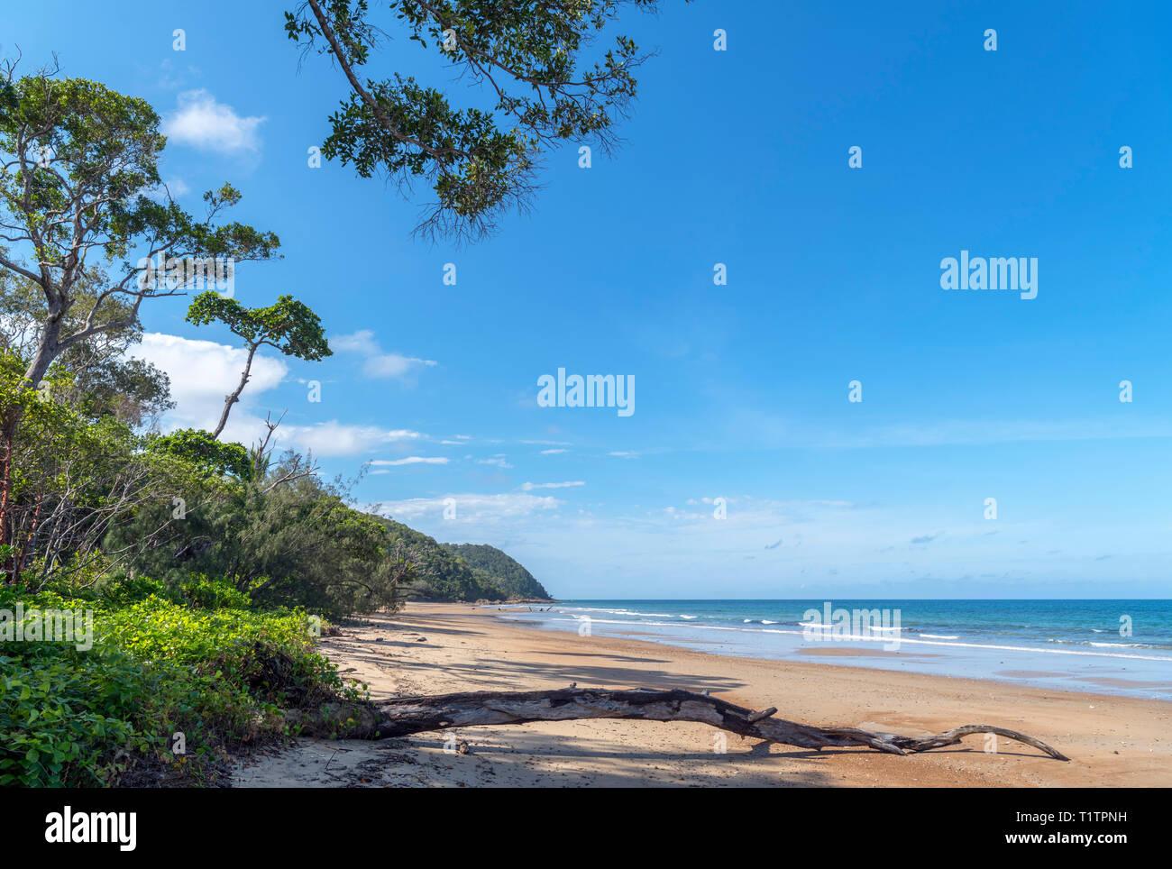 Daintree, Queensland. Beach at Cow Bay, Daintree Rainforest, Daintree National Park, Far North Queensland, Australia - Stock Image