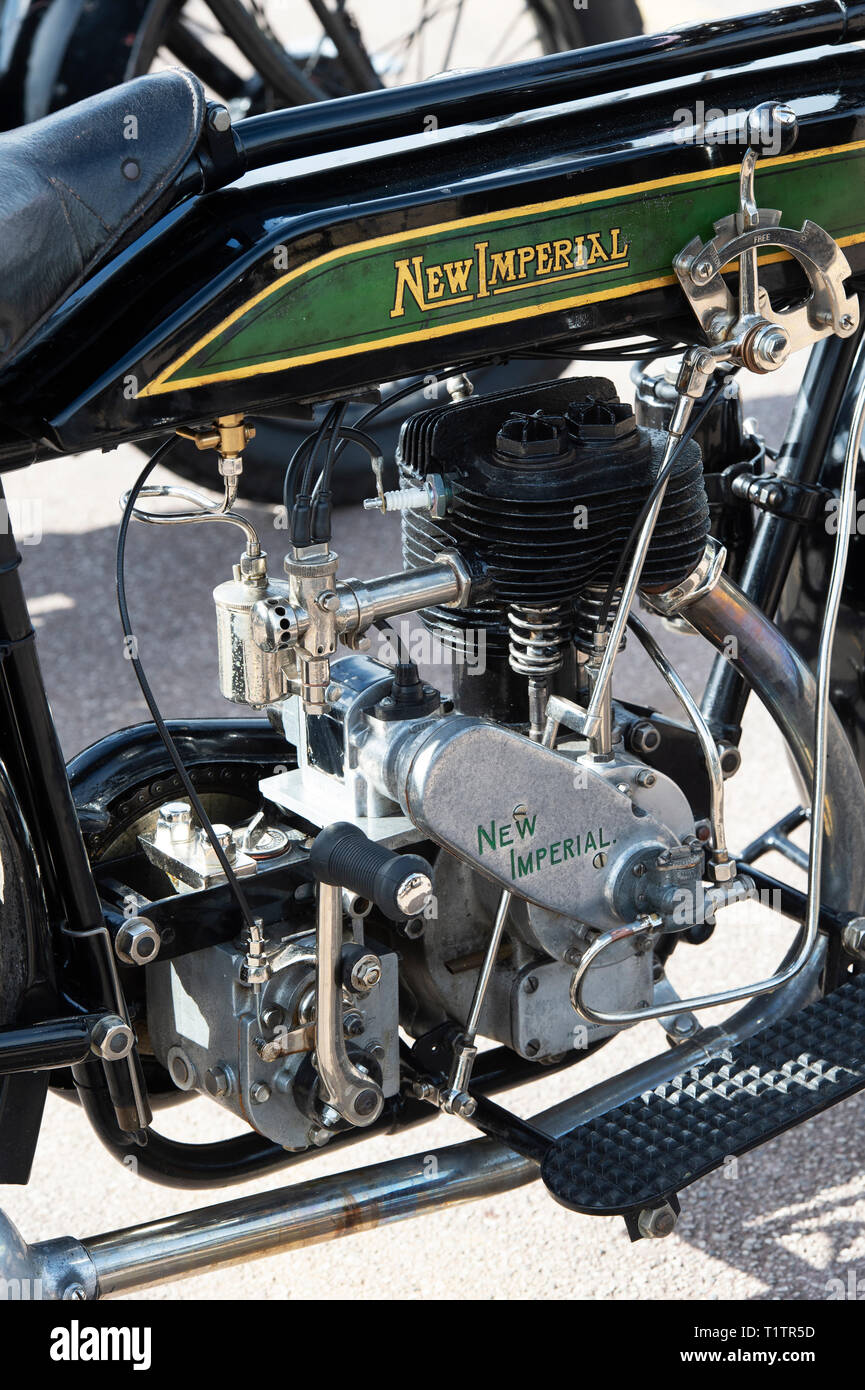 New imperial pre war vintage motorcycle abstract. England. - Stock Image