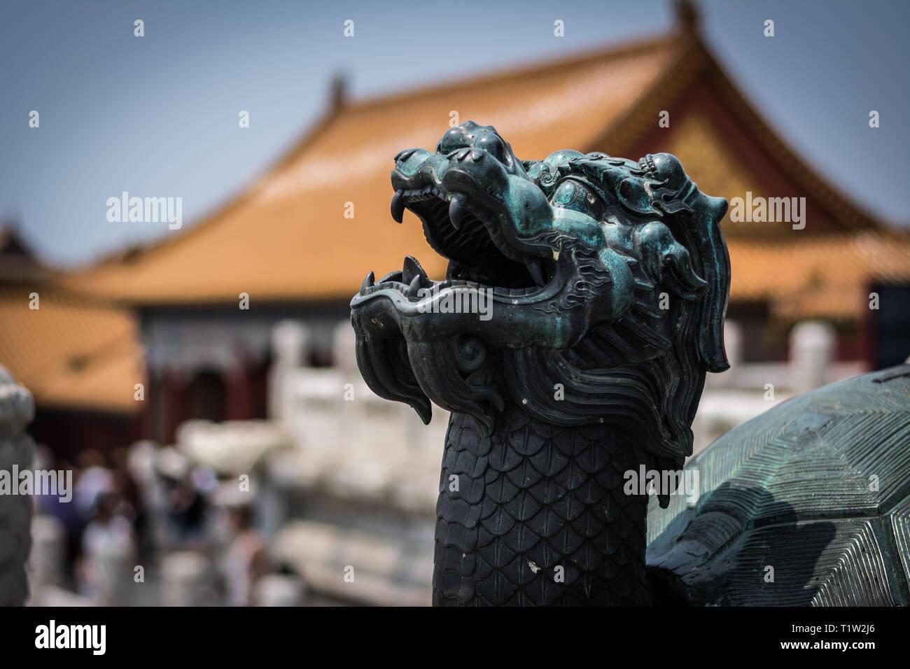 Inside the Forbidden City in Beijing - Stock Image