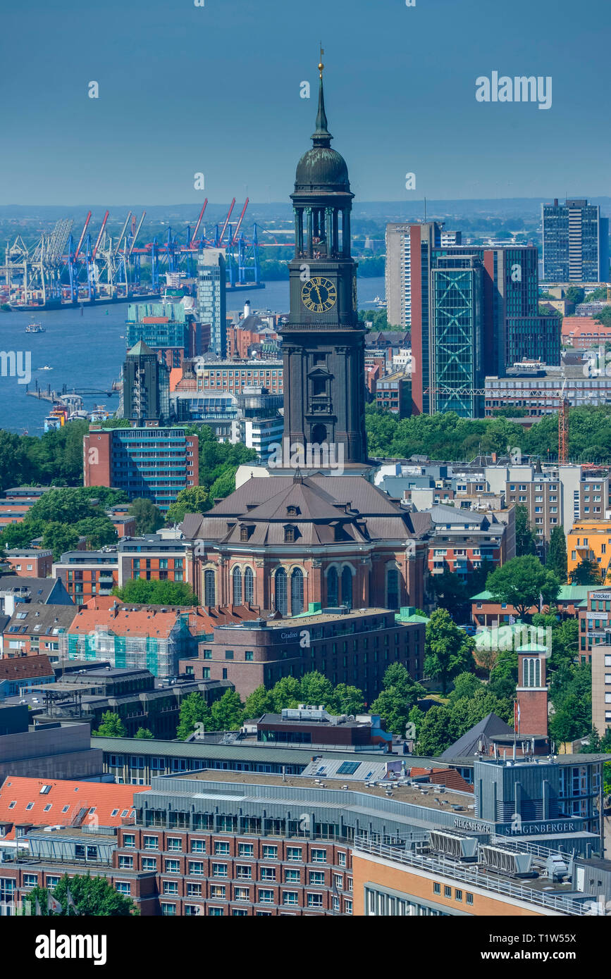 Hauptkirche Sankt Michaelis, Englische Planke, Hamburg, Deutschland - Stock Image