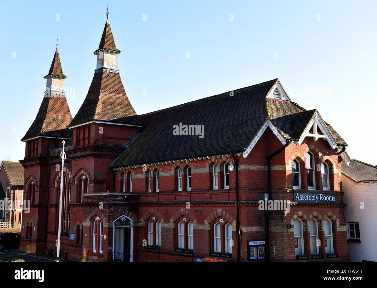 Assembly Rooms, a venue for events and exhibitions which was completed in 1880, Alton, Hampshire, UK. - Stock Image