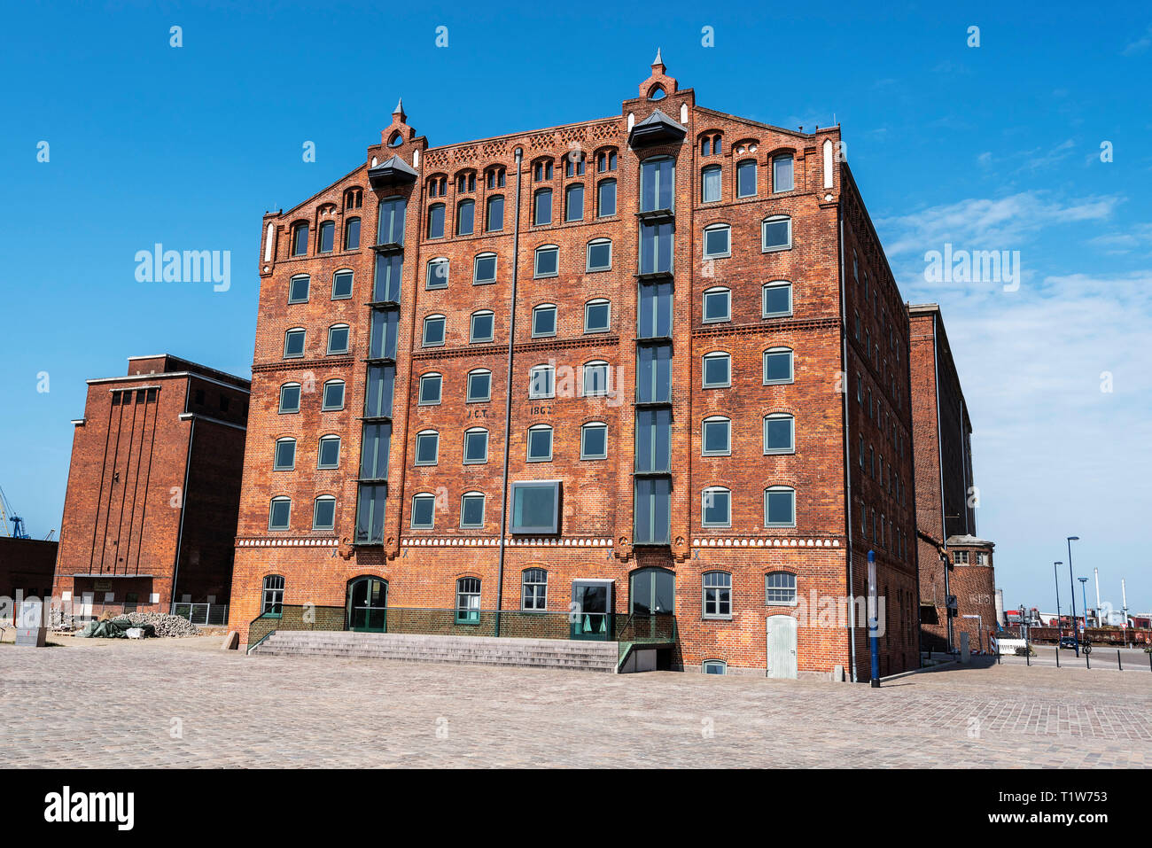storage buildings, old port, Wismar, Mecklenburg-Western Pomerania, Germany - Stock Image