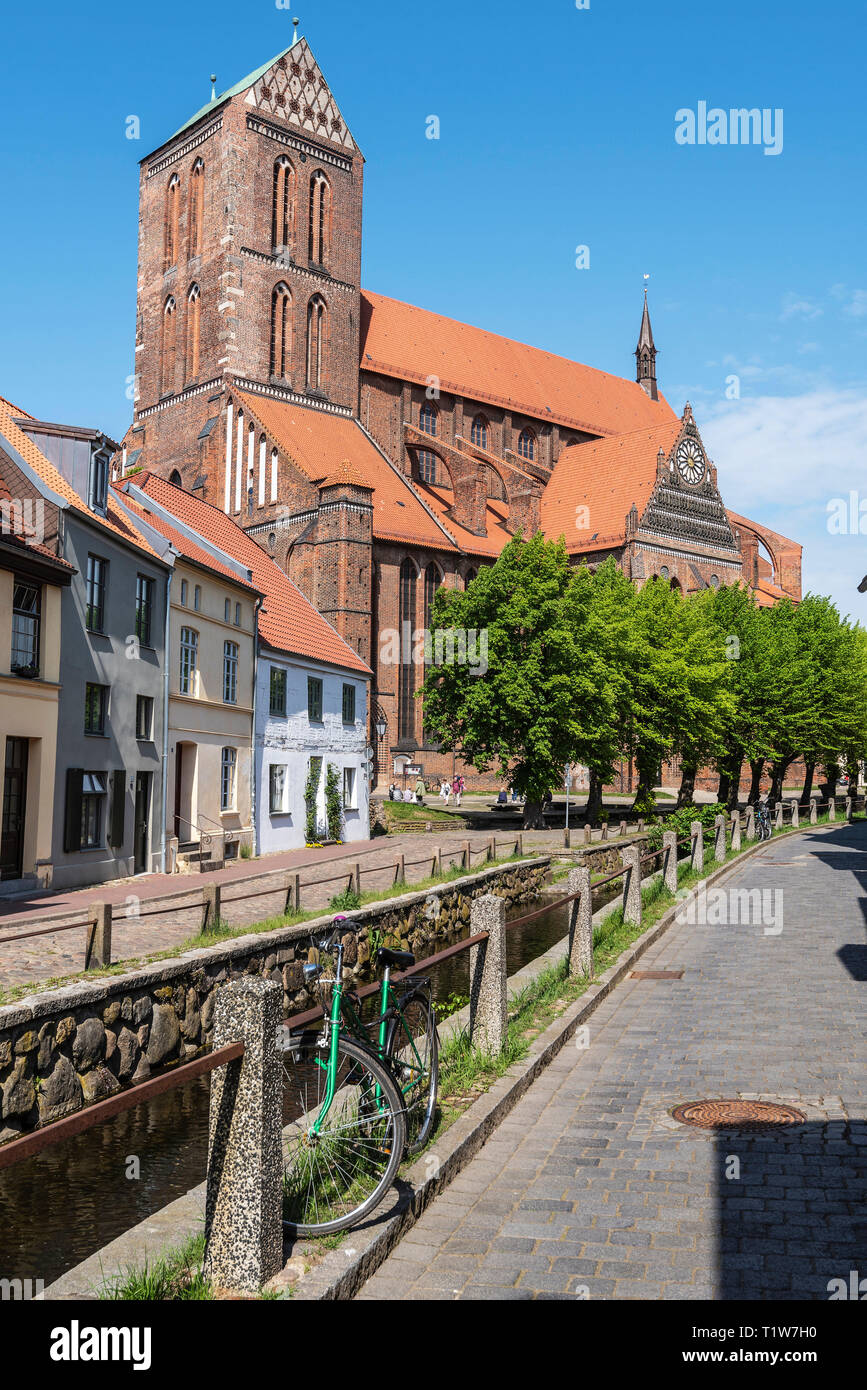 St. Nikolai, church, Wismar, Mecklenburg-Western Pomerania, Germany - Stock Image