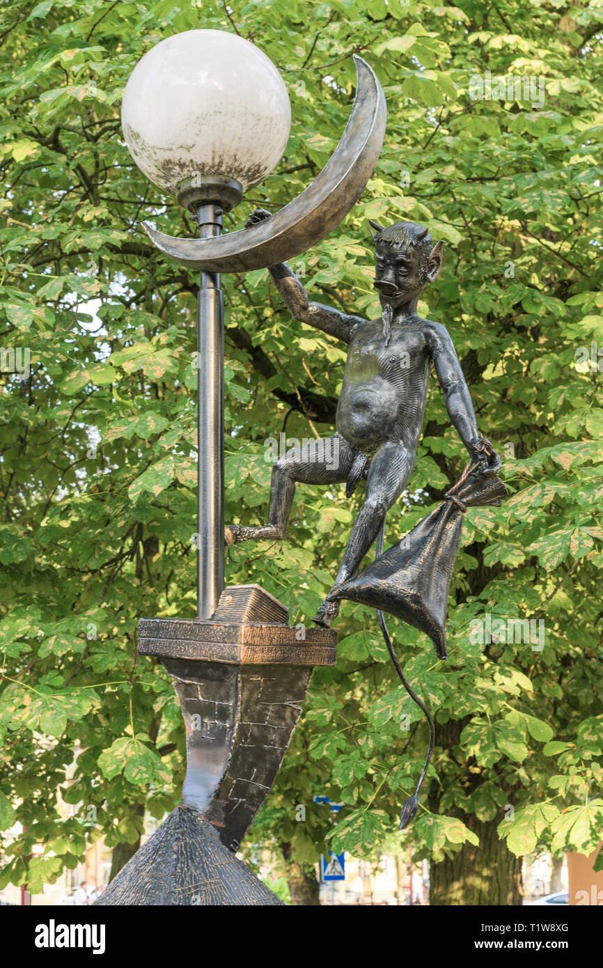 BREST, BELARUS - JULY 28, 2018: Street sculptures. Belarus. Brest. - Stock Image