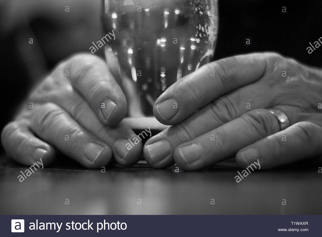 Old Mans Black and White Stock Photos & Images - Alamy