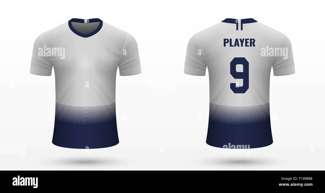 new product bc300 0df06 Realistic soccer shirt Tottenham Hotspur, jersey template ...