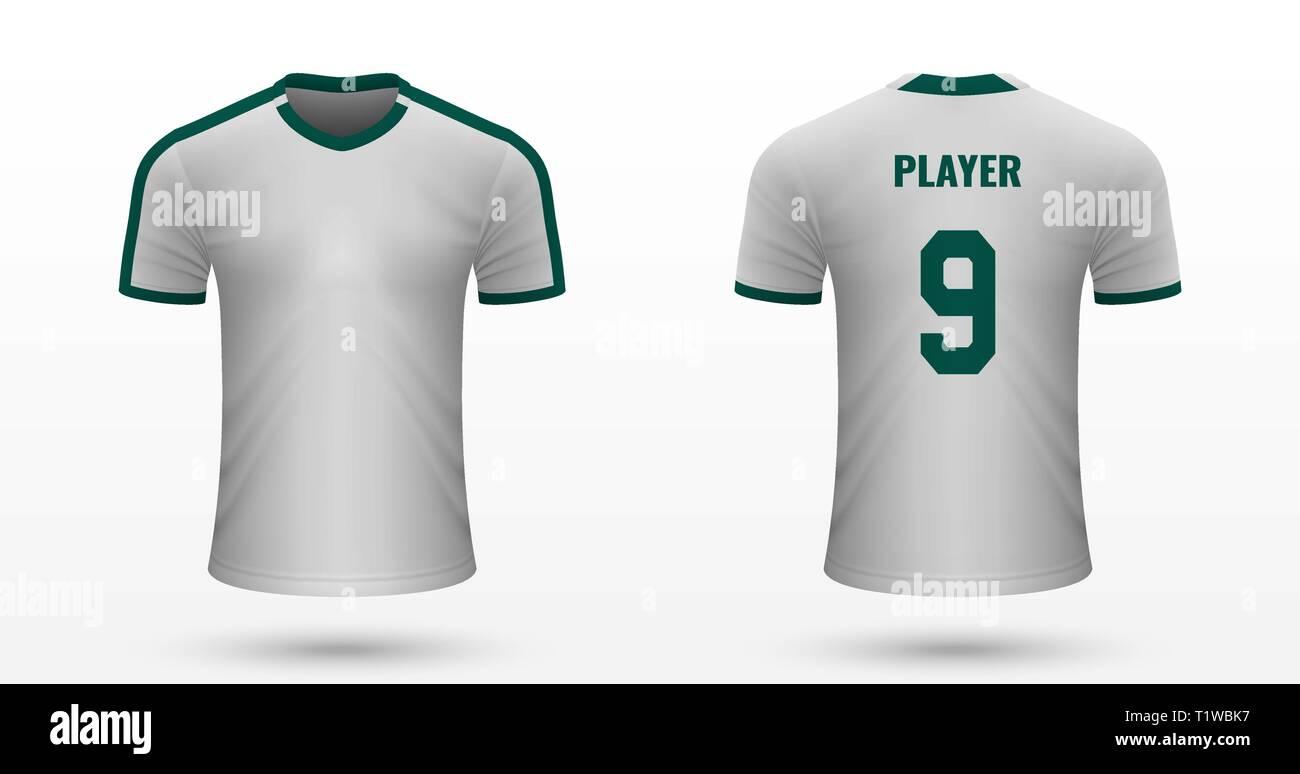Realistic Soccer Shirt Mohchengladbach Jersey Template For Football Kit Vector Illustration Stock Vector Image Art Alamy