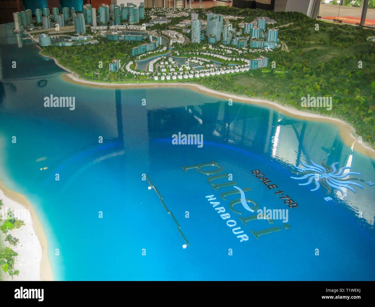 Puteri Harbour masterplan, Iskandar Puteri, Johor, Malaysia - Stock Image
