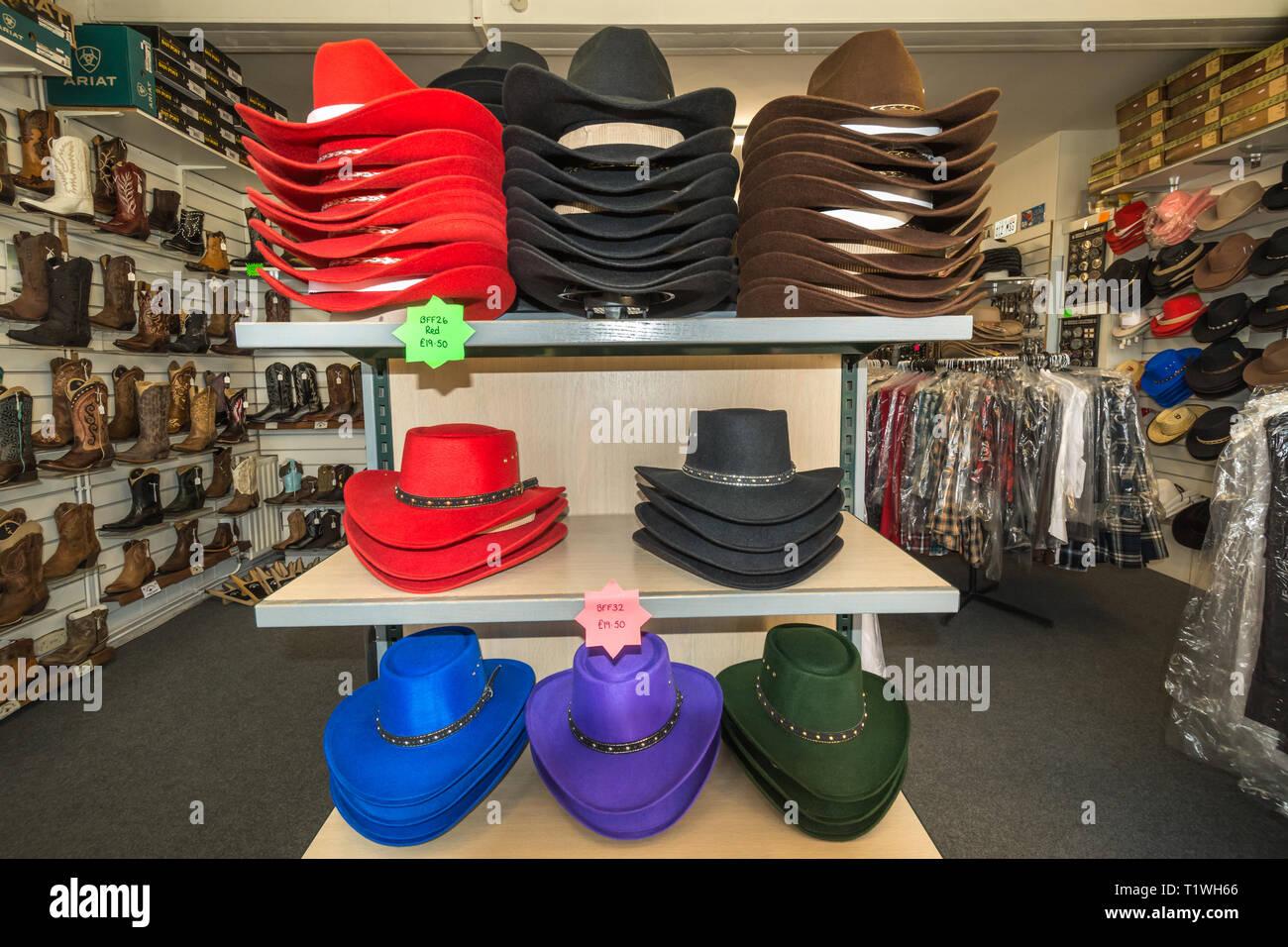 b7fcfea5383fc Interior of the Wild Wild Western Wear specialist shop in Farnborough