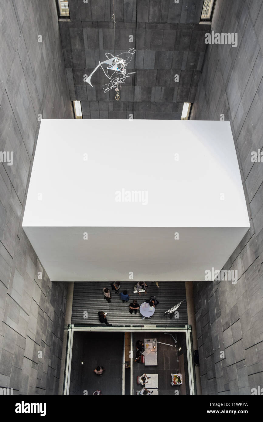 Vienna, Austria - September , 15, 2019: Top view from inside the Mumok, Museum of Modern Art that has a collection of 7,000 modern and contemporary - Stock Image