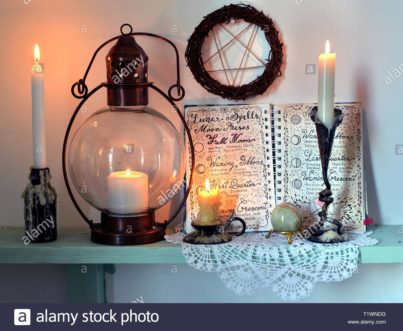 Magic gothic ritual  Wicca, esoteric, divination and occult