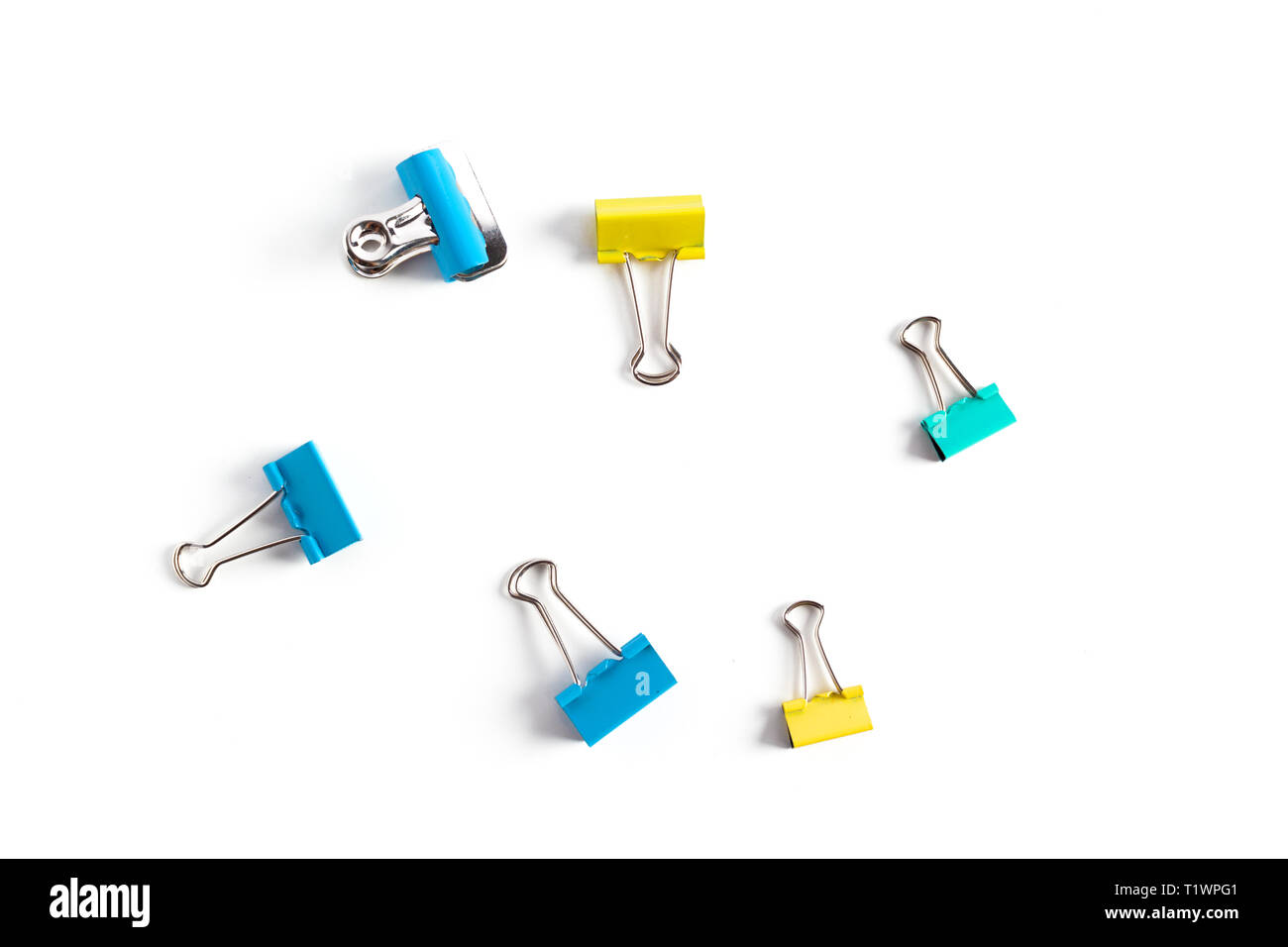 Clip for document or paper clip attachment - Stock Image