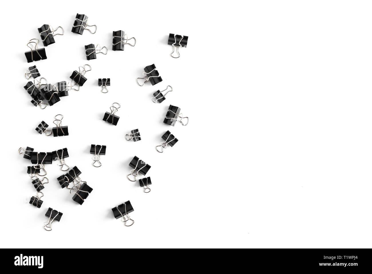 Clip for document or paper clip attachment - Stock Image