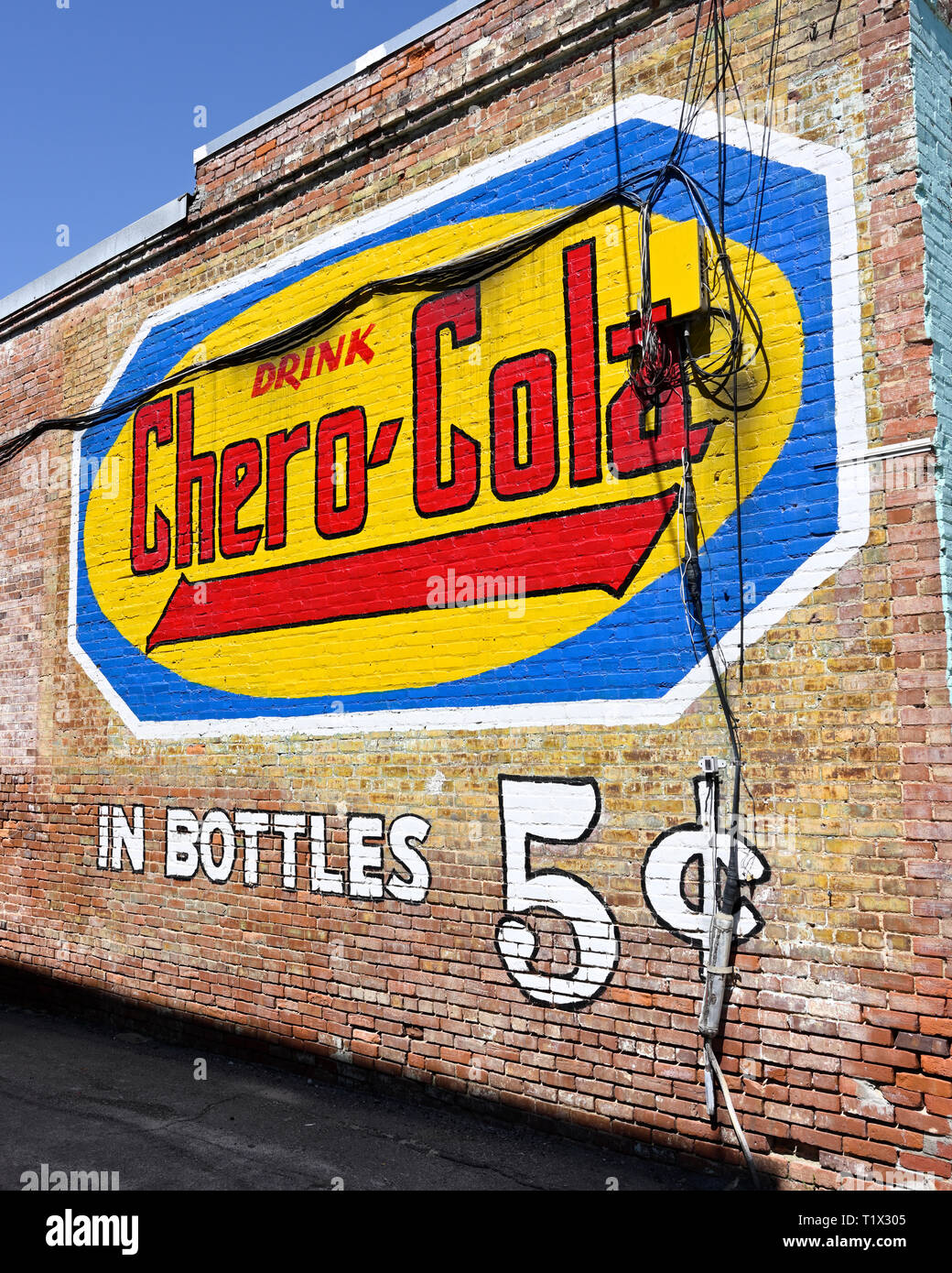 Outdoor Advertising Or Marketing With Bright Color Painting On A
