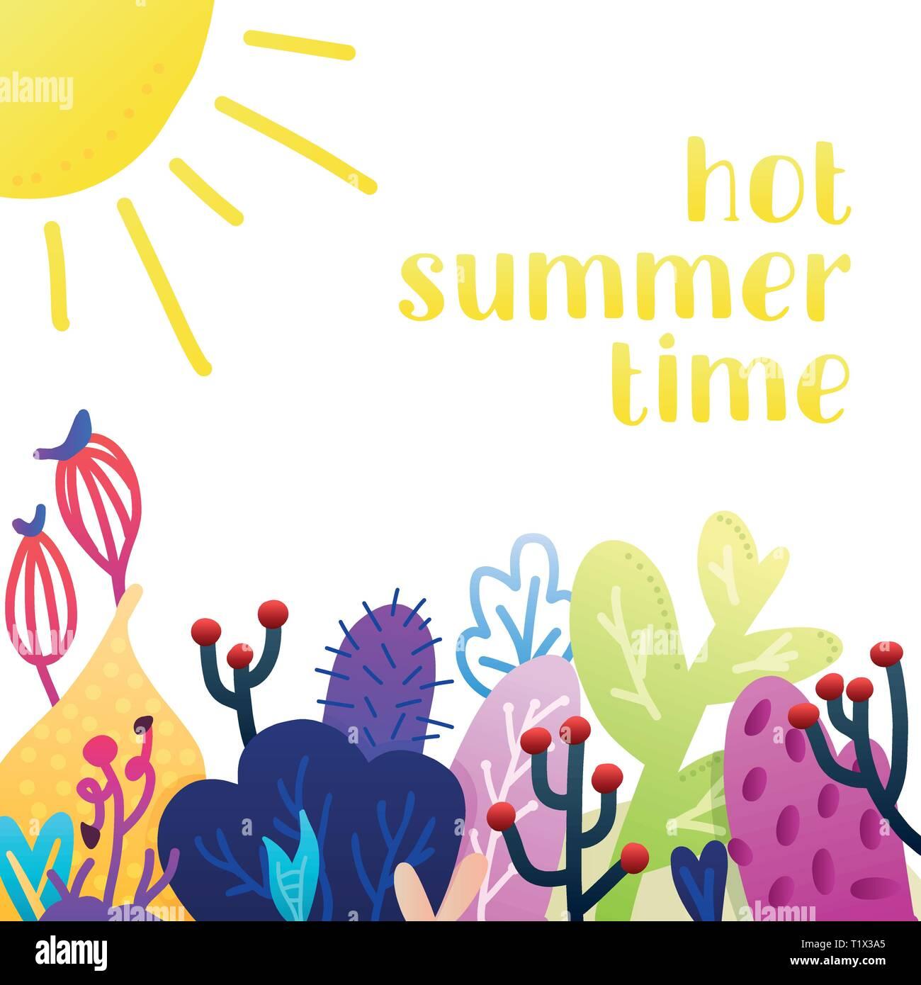 Creative Universal Floral Summer Background Modern Graphic Design