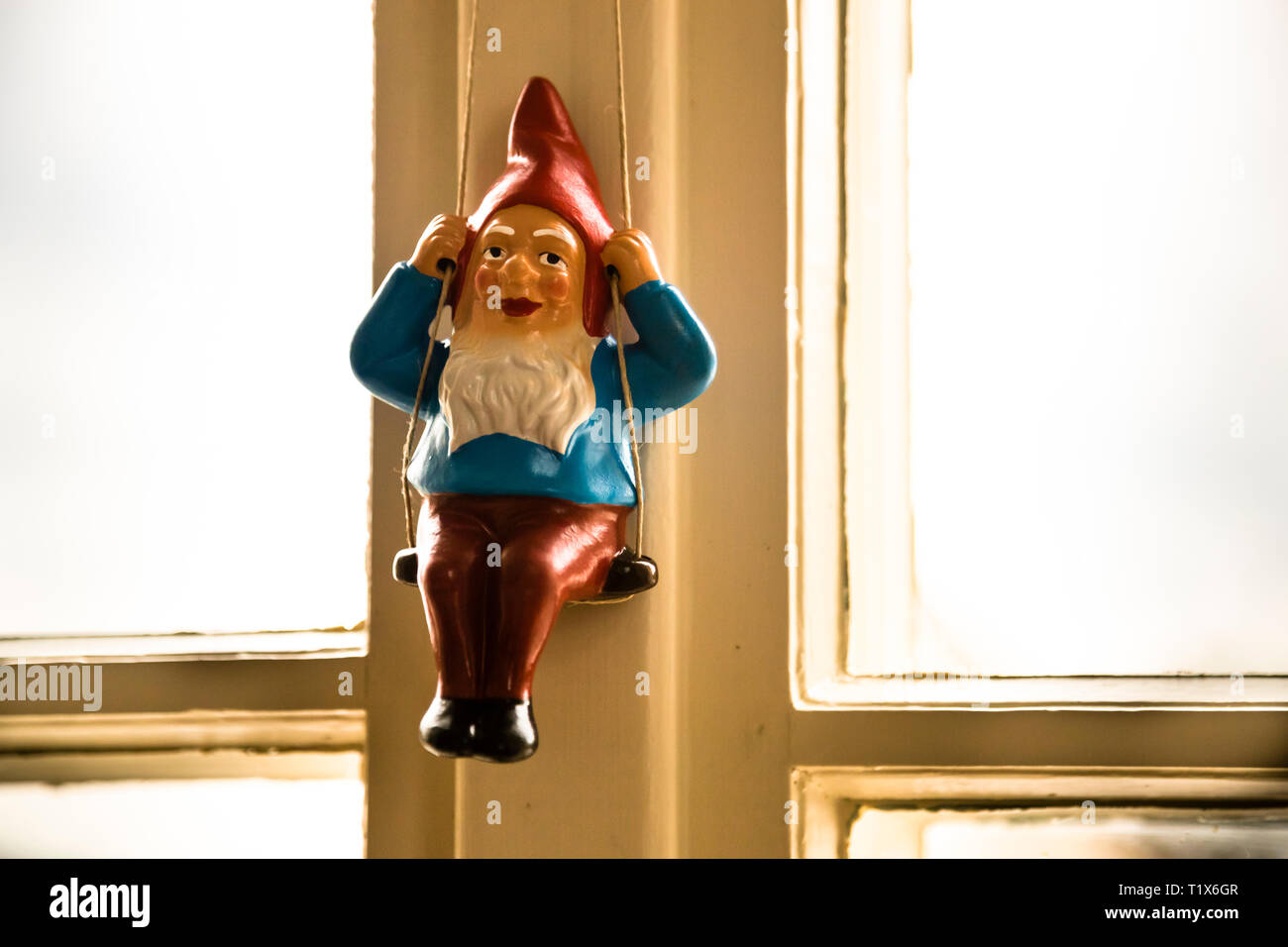 Gnomes as decoration of Kavaliershaus in Fincken, Germany Stock Photo