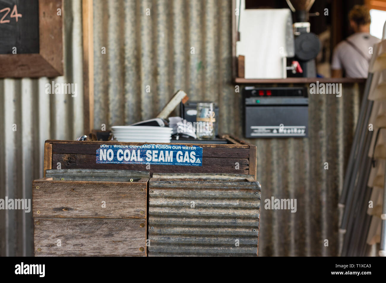 No Coal Seam Gas sticker - Stock Image