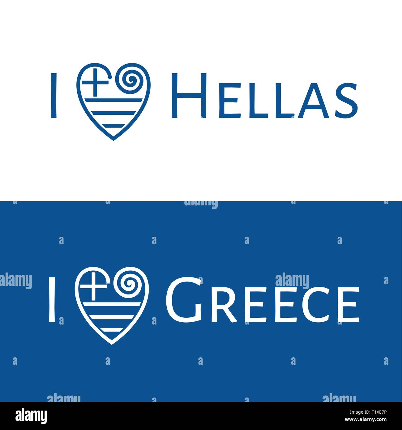 f467dfd29 I love Greece vector banner for T-shirt, postcards and souvenirs. I love