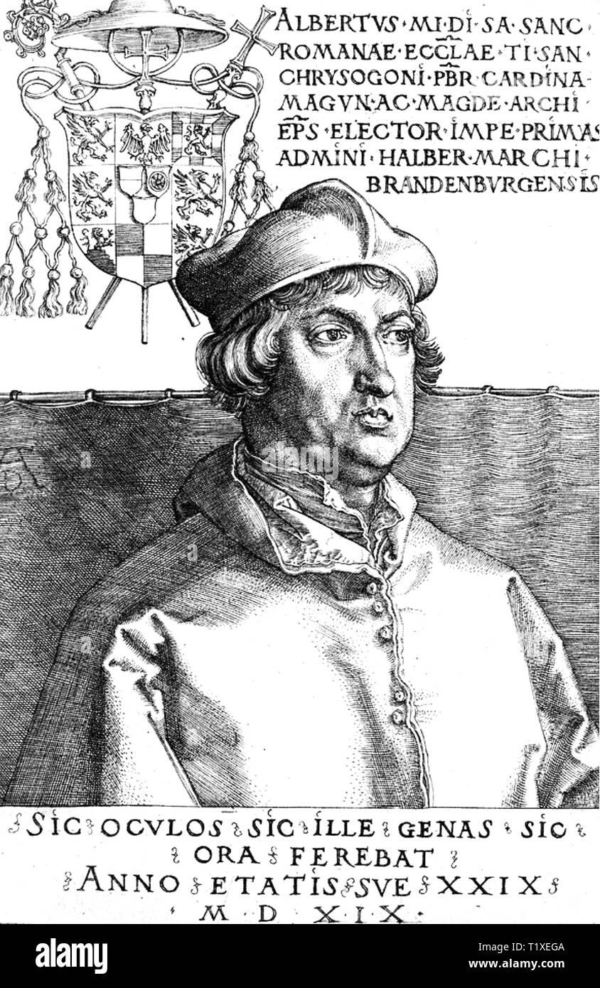 ALBERTUS MAGNUS (c 1193-1280) German Catholic Dominican friar and bishop - Stock Image