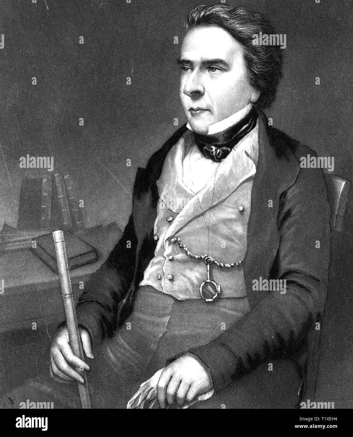 DOUGLAS JERROLD (1803-1857) English journalist and playwright - Stock Image