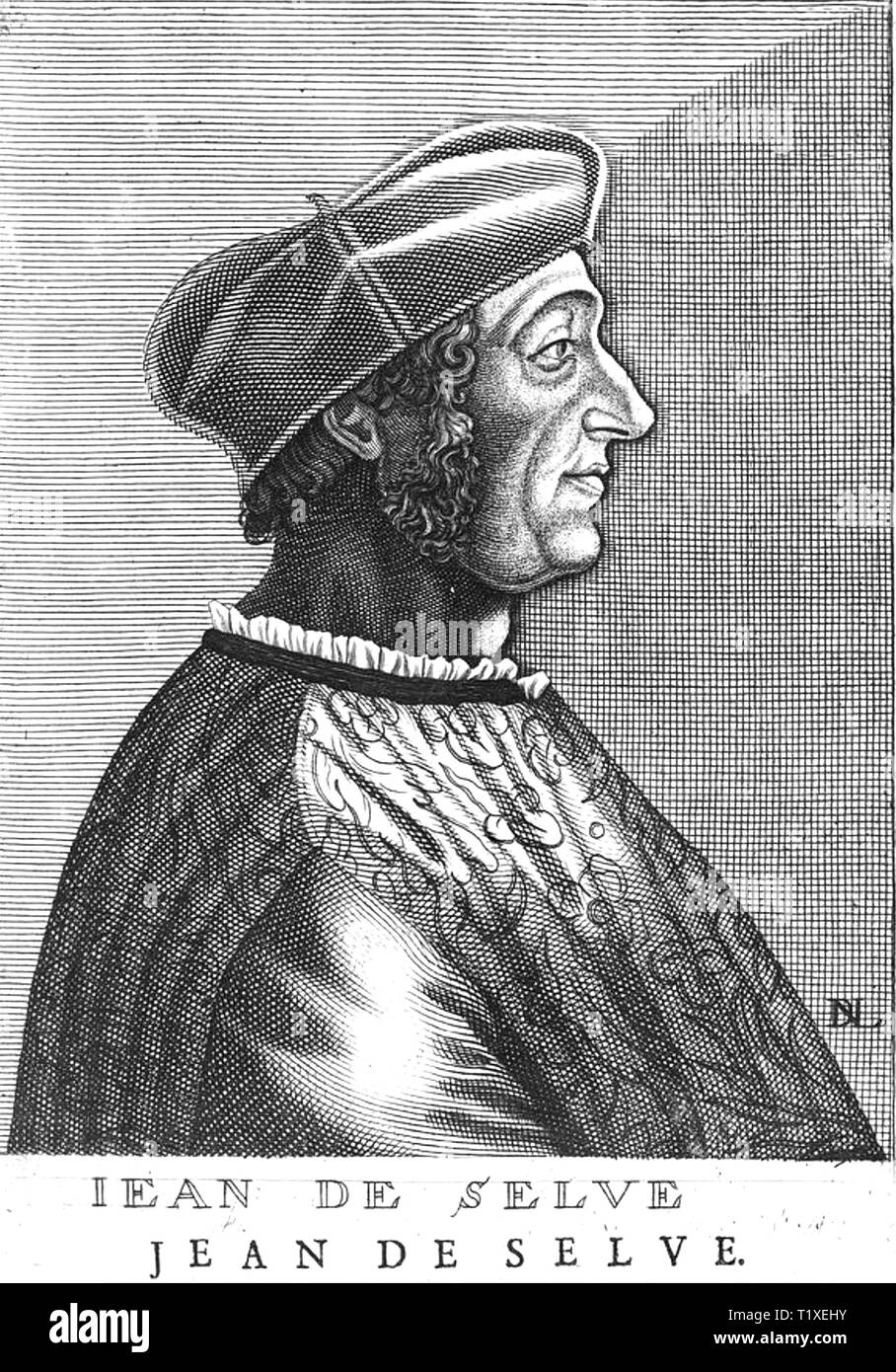 JEAN de SELVE  (1465-1529) French scholar and diplomat - Stock Image