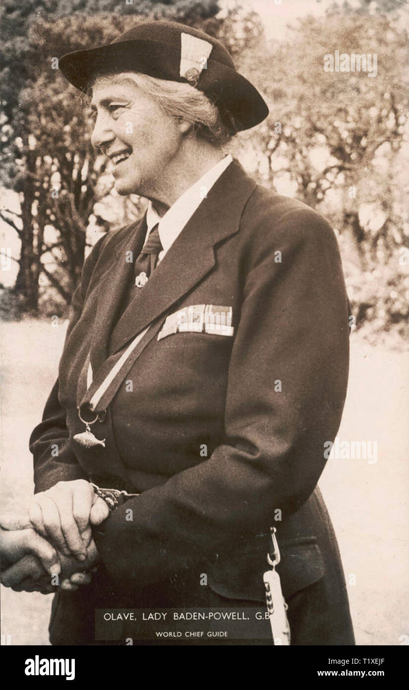 OLAVE BADEN-POWELL (1889-1977)wife of Robert Baden-Powell and first Chief Guide  about 1960 - Stock Image