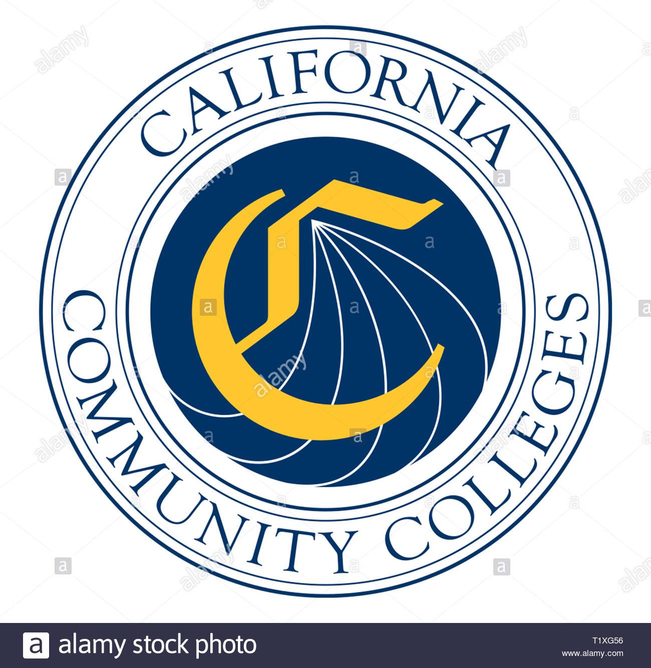 CCS California Community Colleges icon logo - Stock Image