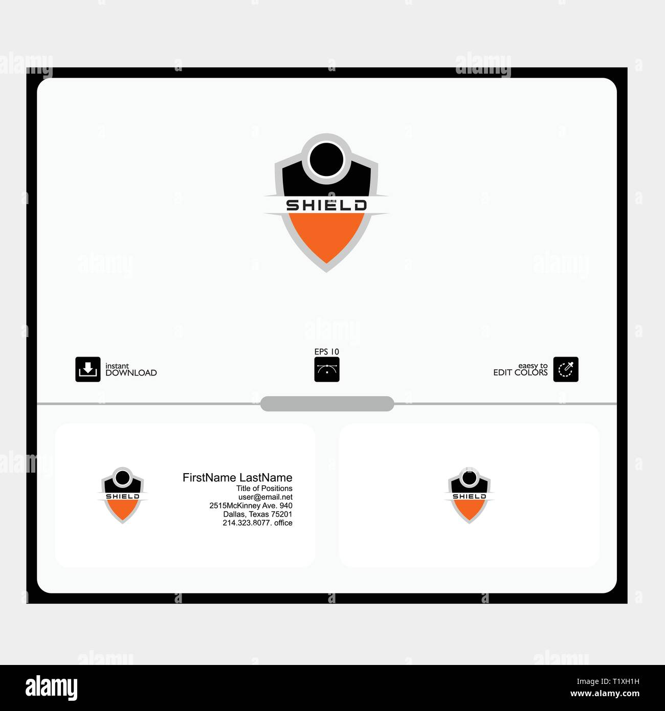 shield logo consept for scurity product sofwere can used in the web logo, themplate, flayer, id card, name card, evtor file - Stock Vector