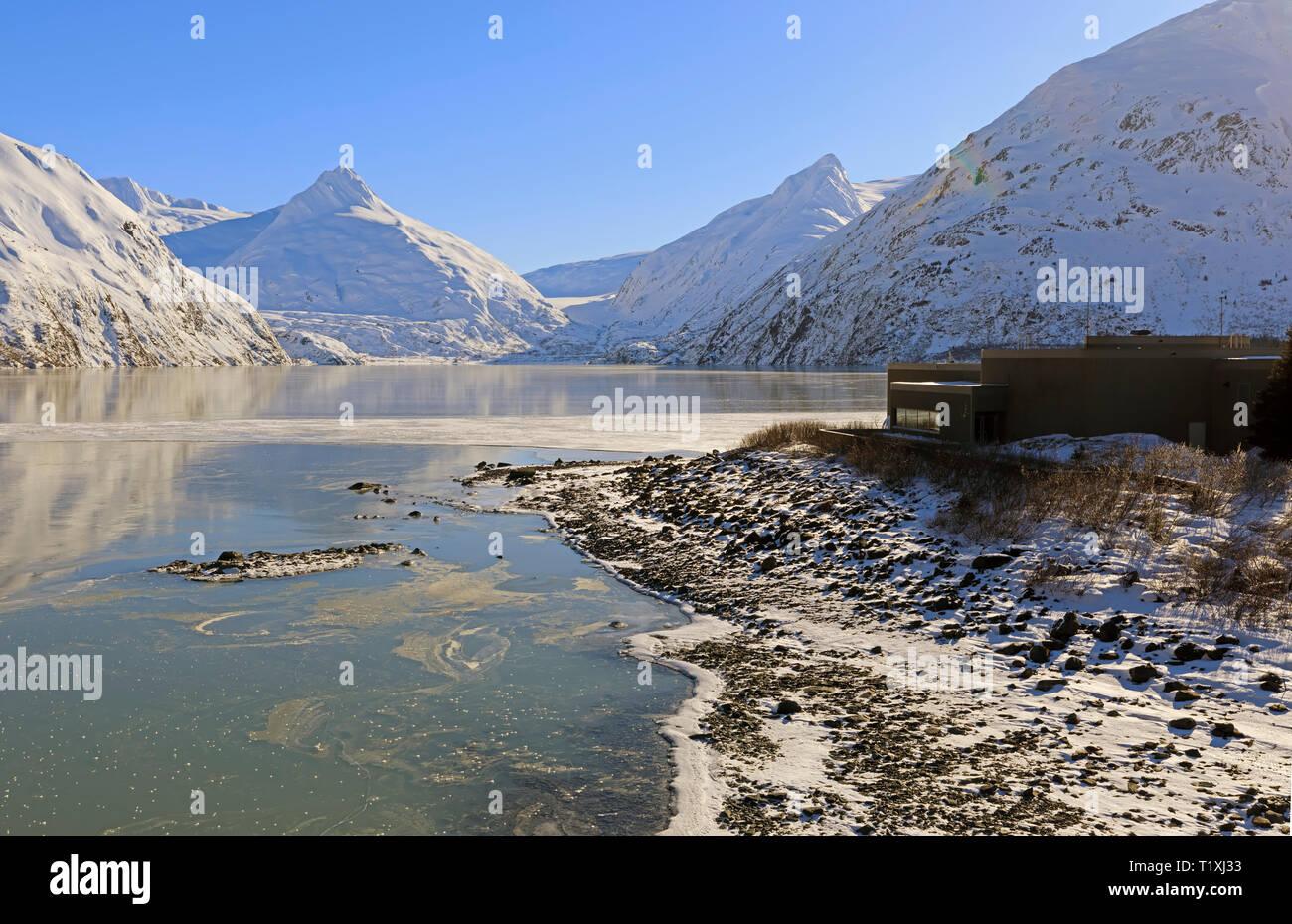 Portage Lake, Alaska, Begich Boggs Visitor Center - Stock Image