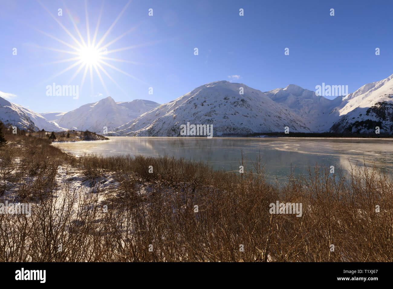 Portage Lake, Alaska - Stock Image