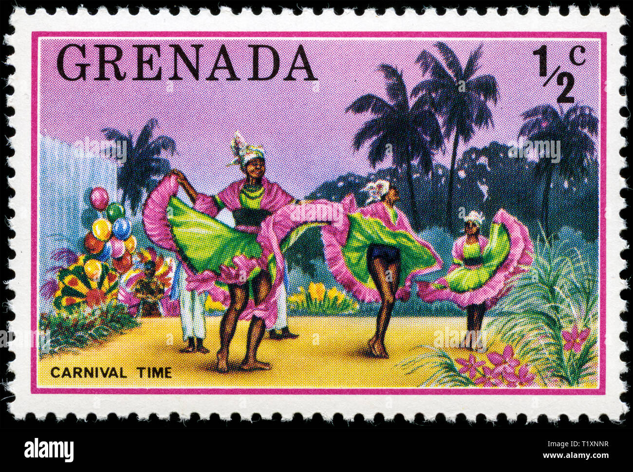 Postage stamp from Grenada in the Tourism series issued in 1976 - Stock Image