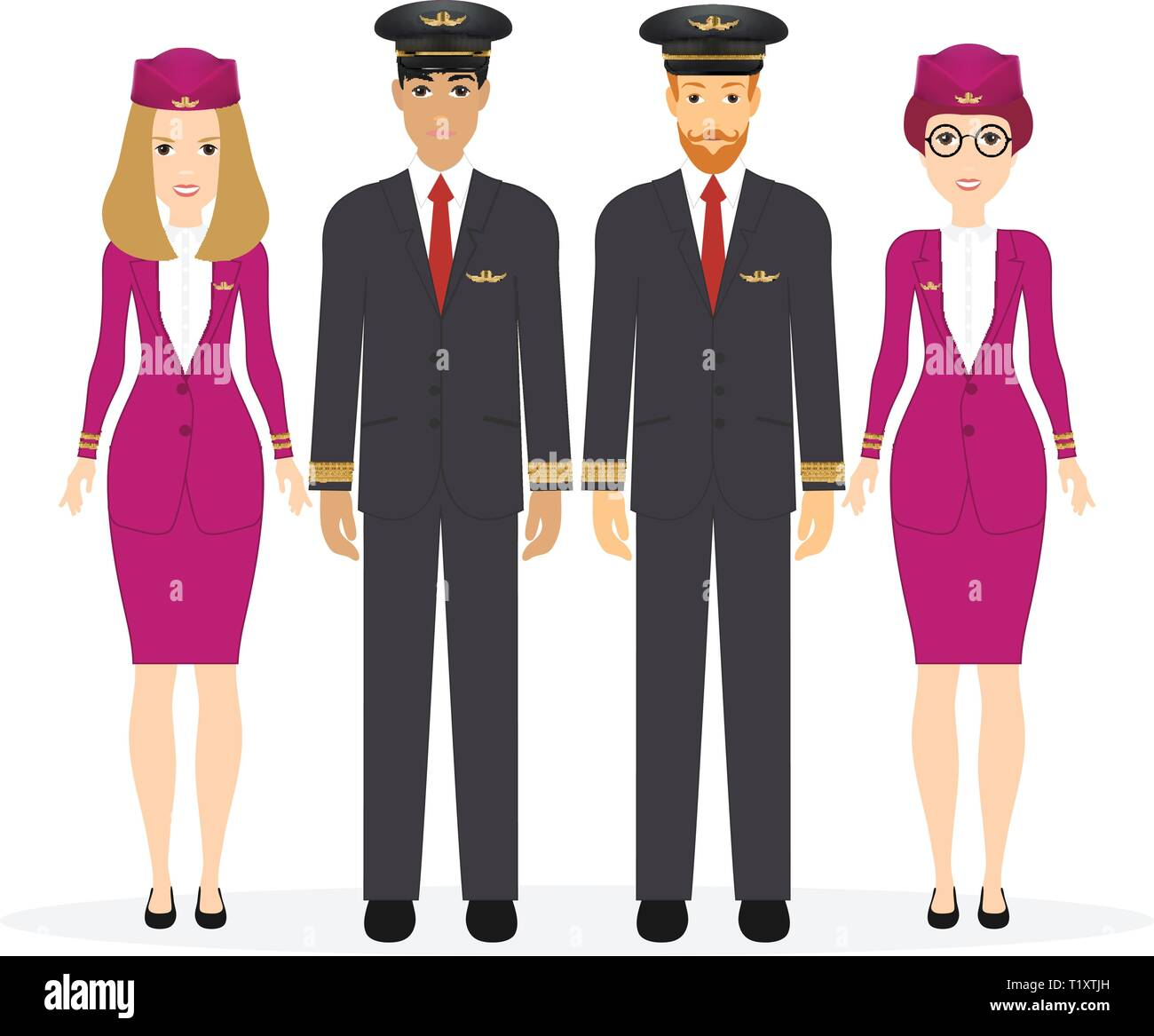 3bf16bdcdc327 Air Hostess Stock Vector Images - Alamy