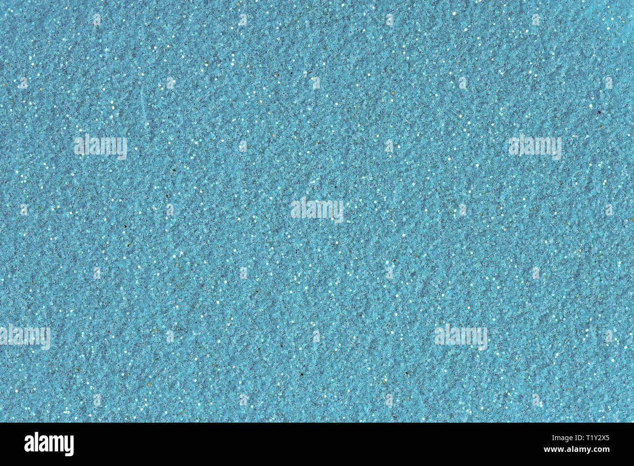 Blue glitter texture christmas abstract background. Low contrast photo. - Stock Image