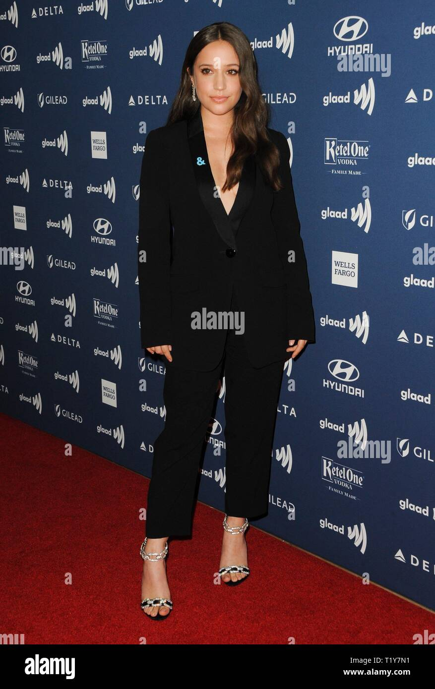 Beverly Hills, CA. 28th Mar, 2019. Gideon Adlon at arrivals for 30th Annual GLAAD Media Awards, The Beverly Hilton, Beverly Hills, CA March 28, 2019. Credit: Elizabeth Goodenough/Everett Collection/Alamy Live News - Stock Image