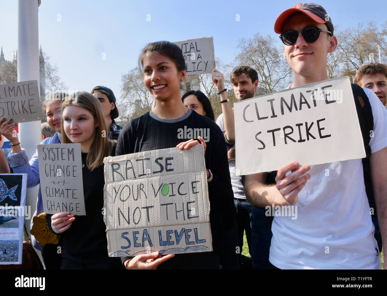 29th Mar 2019. Youth Strike 4 Climate, Climate Change Protest, Parliament Square, Westminster, London. UK Credit: michael melia/Alamy Live News Stock Photo