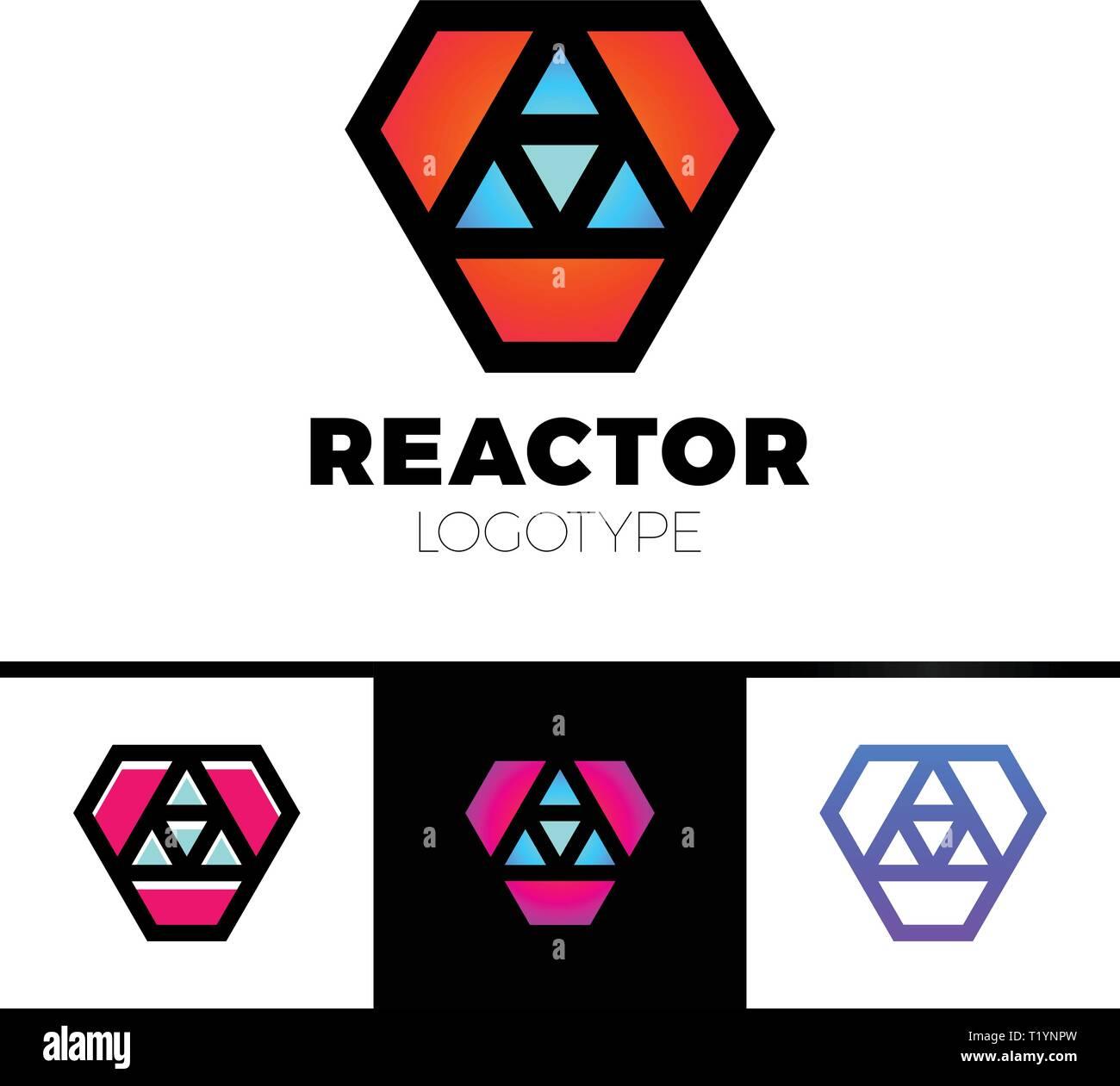 Triangle logotype or Trinity Arrow Reactor Logo. - Stock Vector