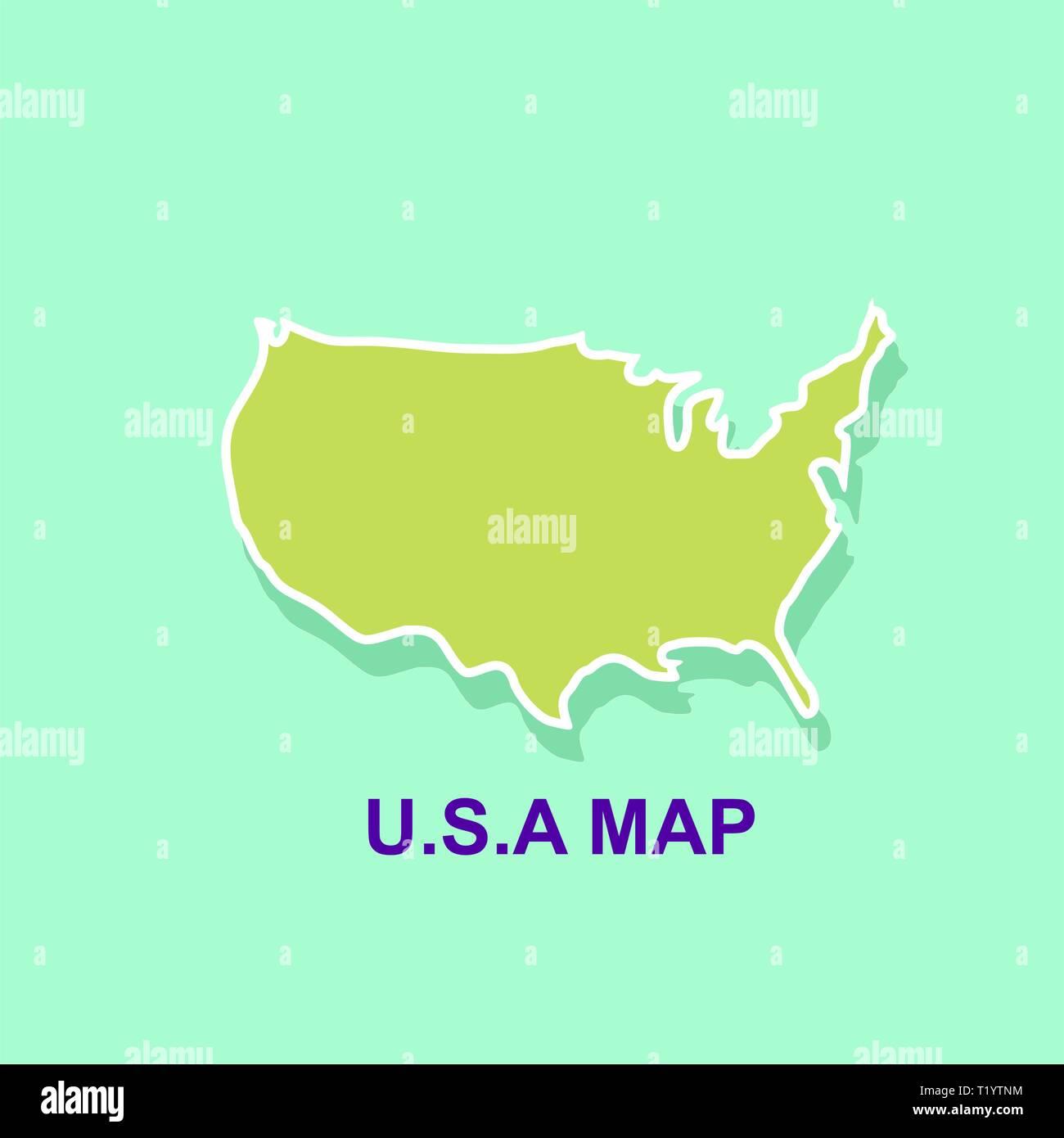 Usa map template. Map design vector - Stock Vector