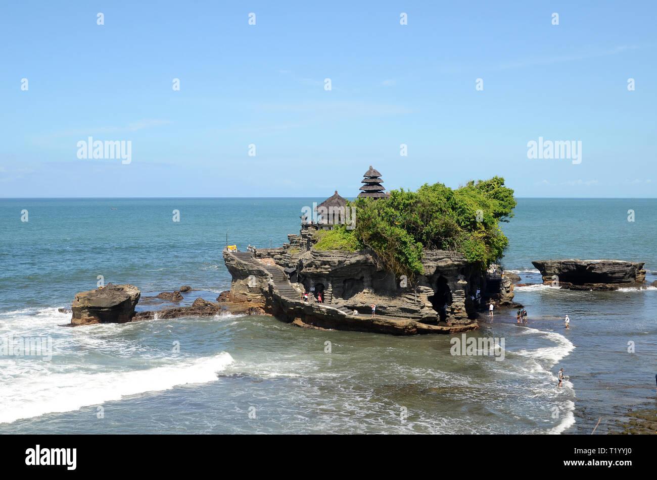Tanah Lot Water Temple In Bali Island Indonesia Stock Photo