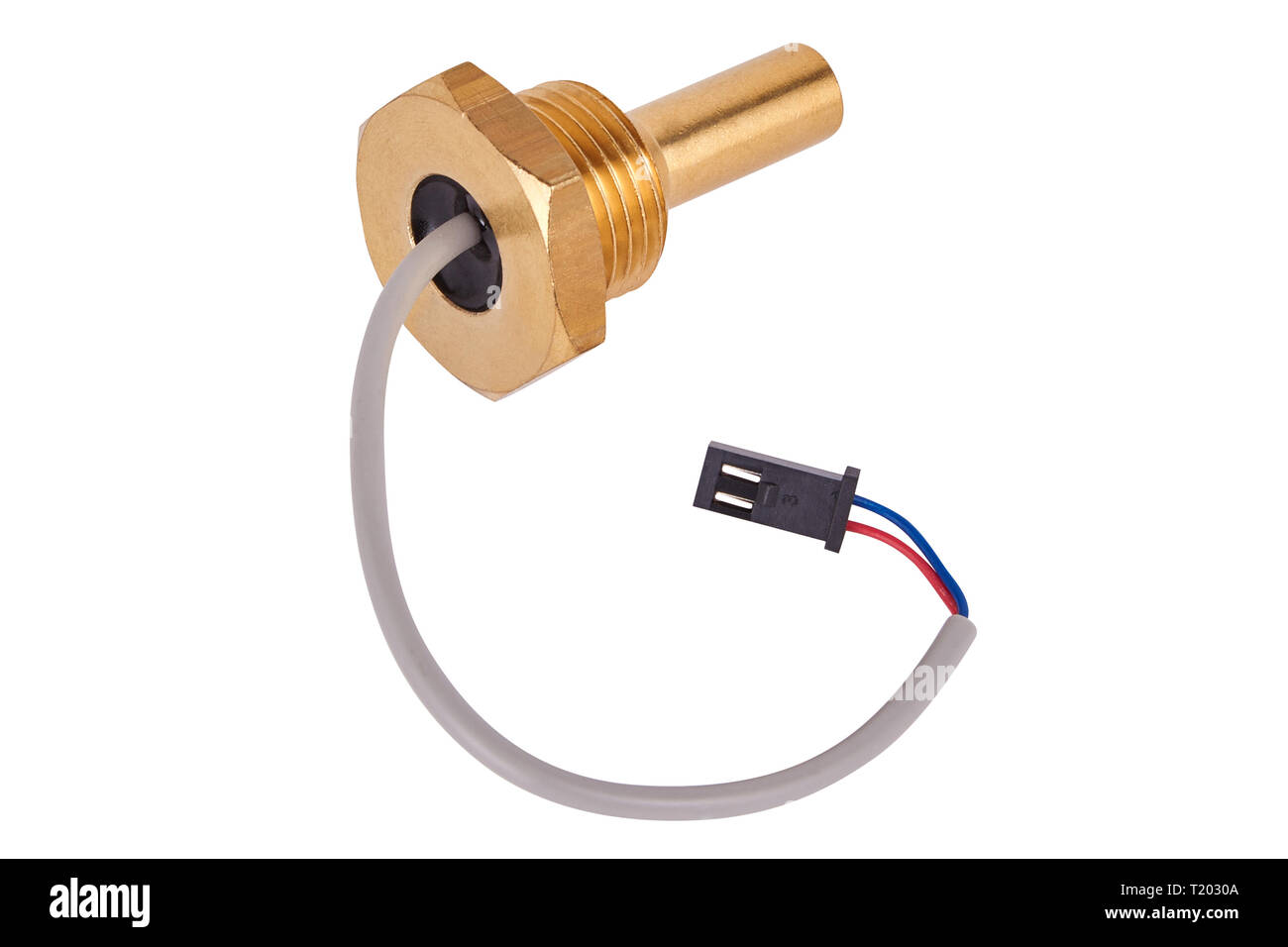boiler temperature sensor. Spare parts for coffee machines. Isolated - Stock Image